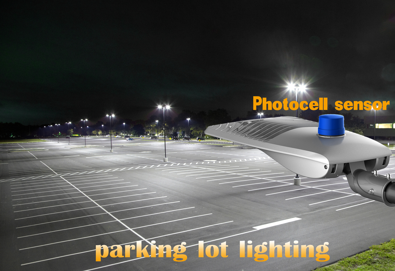 Parking Lot Light With Photocell Sensor