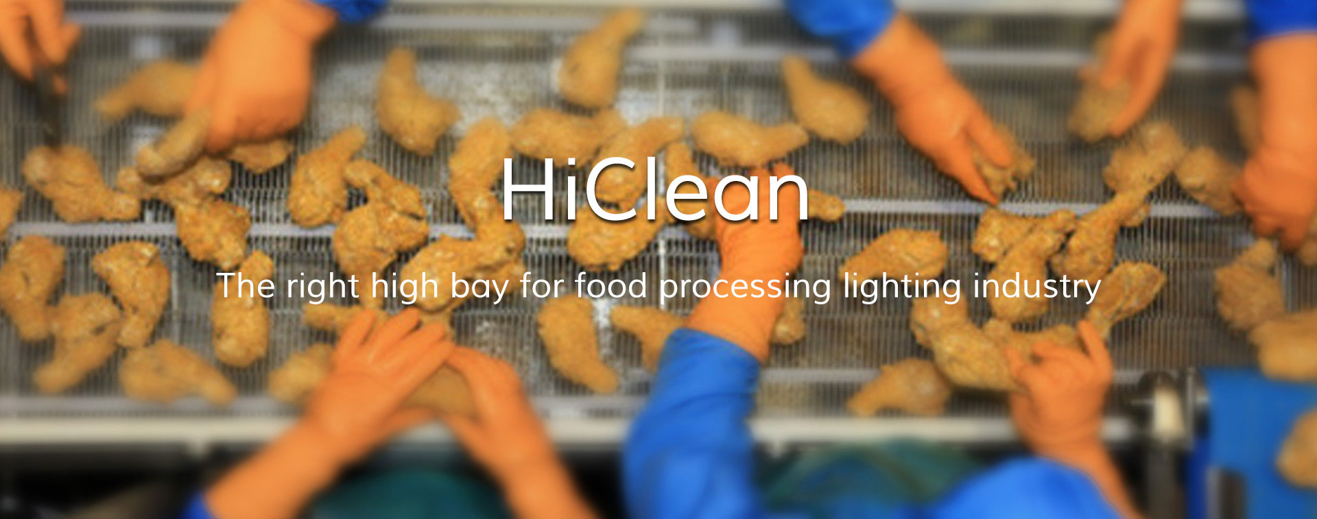 HiClean LED high bay for food processing