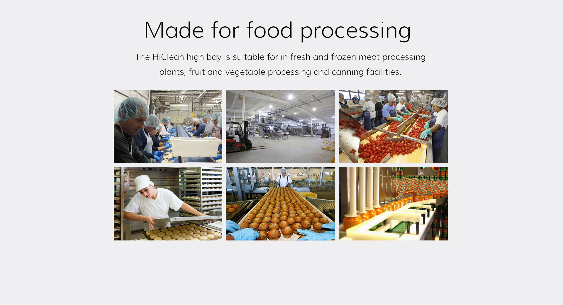 HiClean Made for food processing
