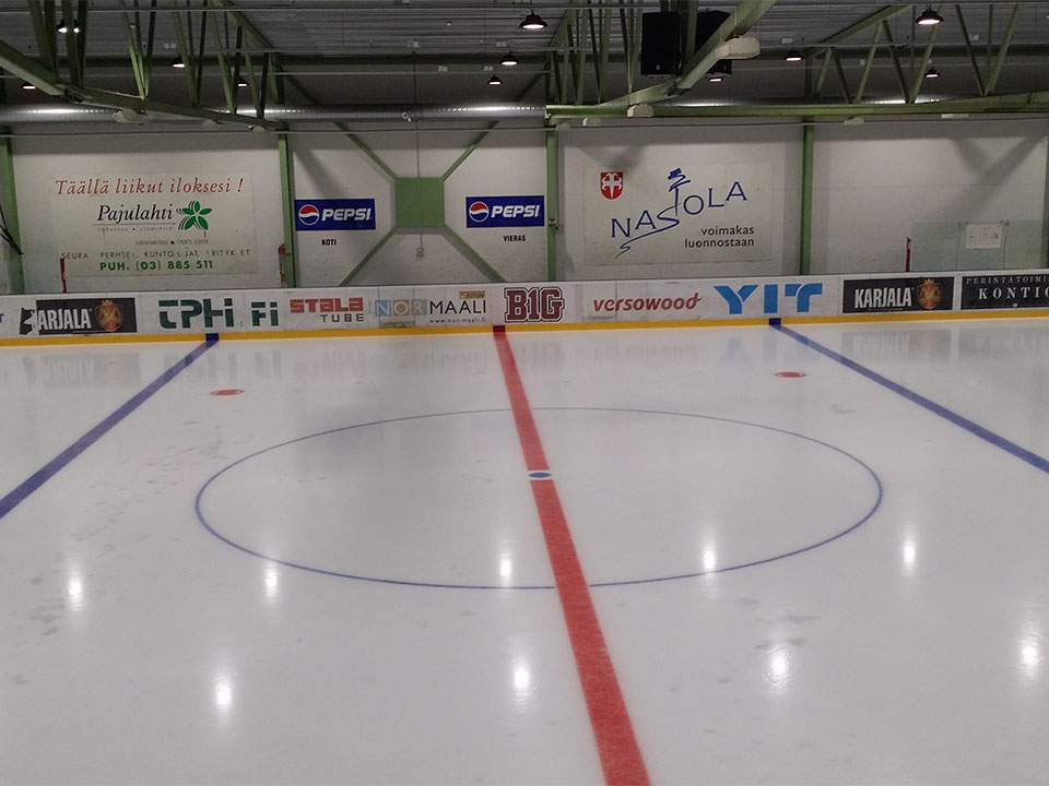 HiCloud high bay in Ice hockey rink