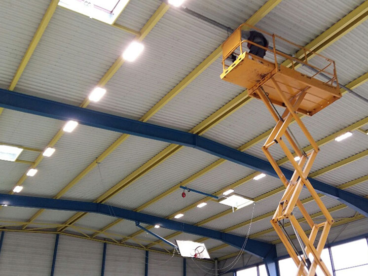 HiRack linear highbay for basketball project