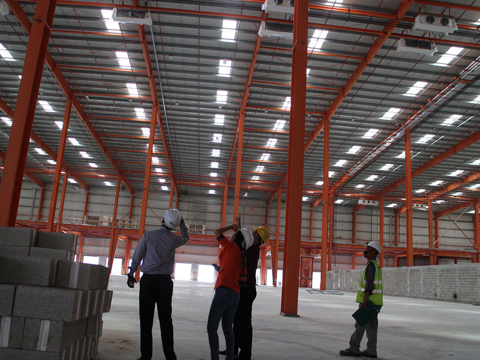LED light used in cold storage project